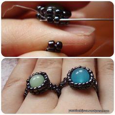 Olá! Gostaria de mostrar-vos um PAP para um anel que inventei umas semanas atras. É bem fácil de fazer e versátil. Usando miçangas de cores diferentes e contas tipo firepolish ou cristais terá resu…
