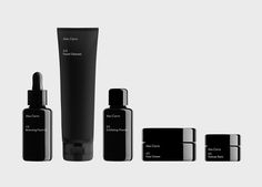 Malva Sawada / Alex Carro / Skincare Range / Packaging / 2016 Launch your own makeup line. Skincare Logo, Skincare Packaging, Cosmetic Packaging, Beauty Packaging, Black Packaging, Bottle Packaging, Packaging Design, Cosmetic Design, Malva