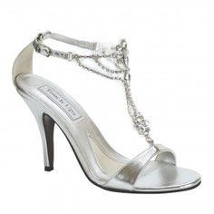 PRINCESS-189 Women Rhinestones High Heels - Silver