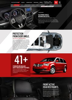 The new Dodge.Com by Lashun Tines, via Behance Web Design Websites, Web Design Trends, Ad Design, Flyer Design, Website Design Layout, Website Design Inspiration, Web Layout, Layout Design, Brochure Layout