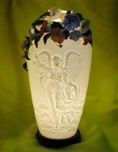 Franz Porcelain angel lamp