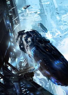 Sci-fi Art: Space Transfer - 2D Digital, Concept art, Sci-fiCoolvibe – Digital Art