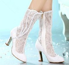lace bridal boot25