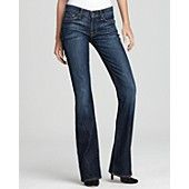 7 For All Mankind Jeans -  Petite Bootcut Jeans in Nouveau New York Dark
