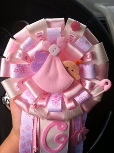 Girl baby shower corsage on Etsy, $25.00