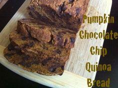Quinoa Chocolate Chip Pumpkin Bread