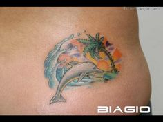 sunset and dolphin tattoos - Google Search
