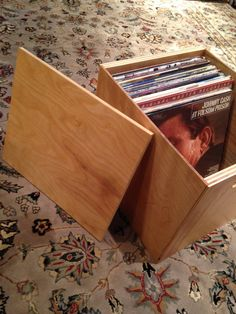 Vinyl Record Storage Cube Vinyl LP Crate For door MileLongRecords