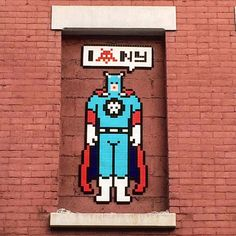 """""""NY_147"""", a new invasion by Invader in Little Italy, New York City"""