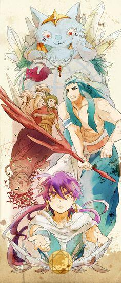 Magi (マギ) - The Adventures of Sinbad (シンドバッドの冒険) Anime Magi, Manga Anime, Manado, Sinbad Magi, Magi Judal, Magi Adventures Of Sinbad, Magi Kingdom Of Magic, Fairy Tail Love, Kawaii Anime