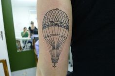 great line work. im workin on incorporating a parachute into a tattoo idea, this inspires