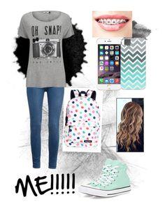"""""""ME"""" by superfabulouzz ❤ liked on Polyvore featuring Paige Denim, ONLY, Converse and Accessorize"""