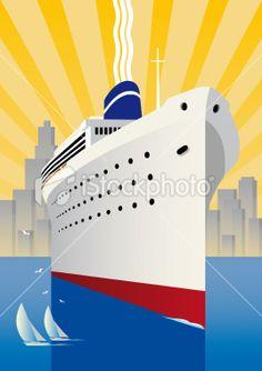 Cruise Ship Royalty Free Stock Vector Art Illustration