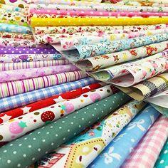 flic-flac 50pcs 8 x 8 inches (20cmx20cm) Cotton Craft Fab...