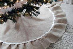 #Christmas tree skirt, pretty and neutral