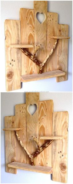 When it comes to wall decoration; salvaging wood pallet is there to solve the need of ornamentation of your place brilliantly. This simple and beautiful craft increases the beauty of your area in mesmerizing way. The use of natural piece of wood in this project is giving artistic look. #WoodworkingProjects #WoodworkingPlans