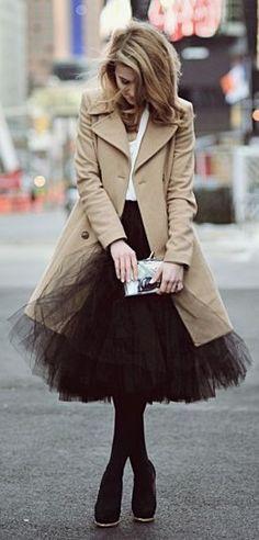 チュールスカート ブラック