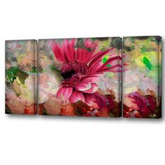 Ready2hangart 'Painted Petals LXIV' Canvas Wall Art Set