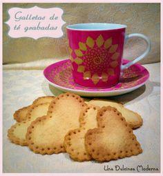 Receta galletas de té decoradas. Merienda perfecta. http://unadulcineamoderna.wordpress.com