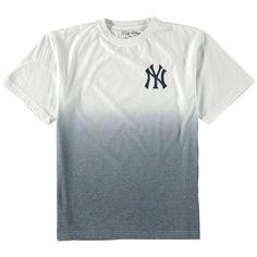 New York Yankees Wright & Ditson Youth Horizon Dip-Dyed T-Shirt - White/Navy - $26.39