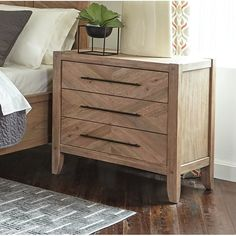 SCTL 3 Drawer Nightstand & Reviews | Wayfair