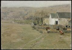 """A Pennsylvania Farm,"" William Langson Lathrop, oil on canvas, 18 x 26"", Philadelphia Museum of Art."