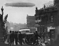 The German passenger airship Graf Zeppelin over Leeds City Square on 18th July 1931. Old Pictures, Old Photos, Leeds City, Photo Boards, West Yorkshire, My Town, Back In Time, Days Out, Where To Go