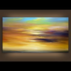 art abstract original painting seascape painting art by mattsart