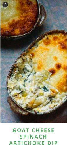 How to make goat cheese spinach artichoke dip that is better than Olive Garden's.