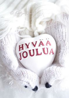 Merry christmas in finnish:)