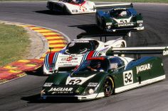 1985 Brands Hatch 1000 Kms Jaguars battle with Lancia early in race