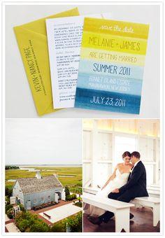 Nautical Jersey Wedding Invites features on 100 Layer Cake