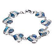 Love Hollow Metal Abalone Shell Bracelet – USD $ 3.99