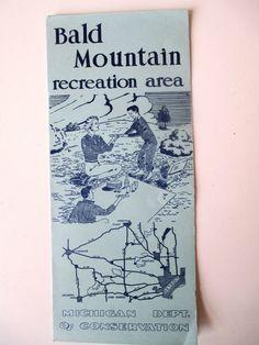 Bald Mountain Recreation Area Lake Orion Michigan Vintage Travel Brochure | eBay