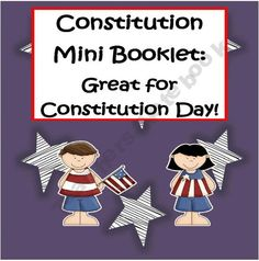 Constitution Mini Book: Great for Constitution Day!