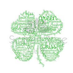 4 leaf clover Word Cloud SVG, PDF  For Cricut Explore and Silhouette Cameo    < WHAT YOU GET >  1 IMAGE in SVG, EPS, and PDF formats  File will not have the watermark as pictured   < SHIPPING >  These are digital files, no physical item will be sent to you.   < REFUNDS >  Since this is a digital download no refunds will be given.  These graphics are a Scarlett Rose Cuts original and are offered for sale exclusively by Scarlett Rose Cuts.   < INSTANT DOWNLOAD >  Files w...