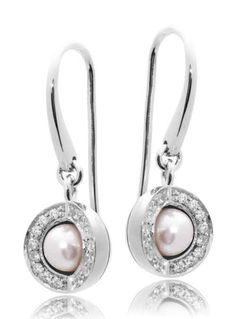 Joy de la Luz | Earrings cz silver/pearl