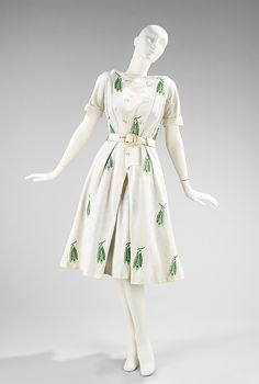 Dress House of Givenchy (French, founded 1952) Designer: Hubert de Givenchy (French, born Beauvais, 1927) Date: 1953 Culture: French Medium:...