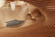 Revolutionary Opera Theater in Vienna, Austria by Tang Fei architecture architektur Acoustic Architecture, Theatre Architecture, Architecture Model Making, Wood Architecture, Organic Architecture, Architecture Details, Photo D'architecture, Architectural Design Studio, Architectural Presentation