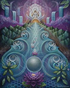 Krystleyez is a visionary artist who incorporates ethereal and organic forms with sacred geometry to portray the interconnected. Psychedelic Art, Third Eye, Visionary Art, Sacred Art, Fractal Art, Sacred Geometry, Art Reproductions, Fantasy Art, Fine Art Prints