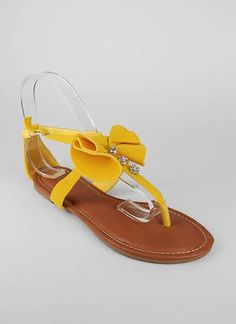 suede rhinestone bow t-strap sandal $10.95