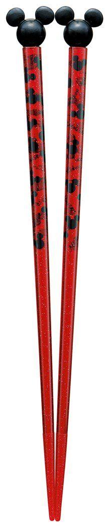 Acrylic chopsticks 21cm Mickey Mouse Disney with mascot