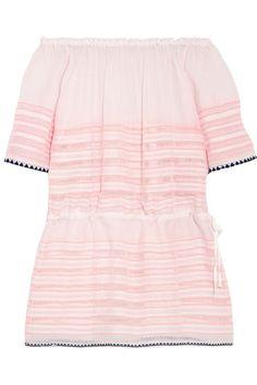 e96bec16e6e1 LemLem - Nadia off-the-shoulder striped cotton-blend gauze mini dress