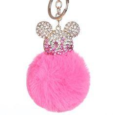 Bright Blue Shimmer /& Shine Pom Pom Keychain Plush Key Ring Clip Key Chain NWT