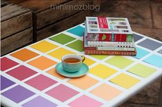 And a paint chip table using Mod Podge... hello, I need to do this ASAP. ^nk