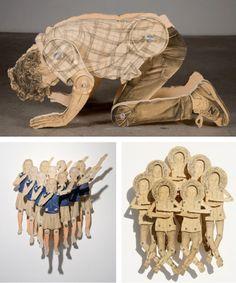 Claire Oswalt - paper dolls  #art  #design    birinci adamı namaz kılıyo sandım.. ya tamam ya imanım çok açık benim