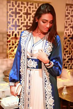 Arabiv middle eastern traditional wedding dress called a kaftan