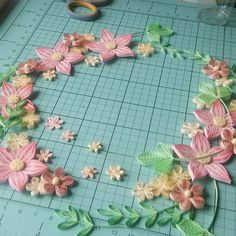 Work in progress... #quilling #wreath #flowerwreath #flower #paperflowers #papercrafts