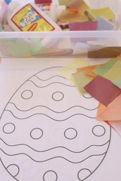 Easy Tissue Paper Easter Egg Craft for Kids