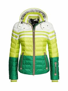 DOWN SKI JACKET TEA in Yellow for Women  6d331078a